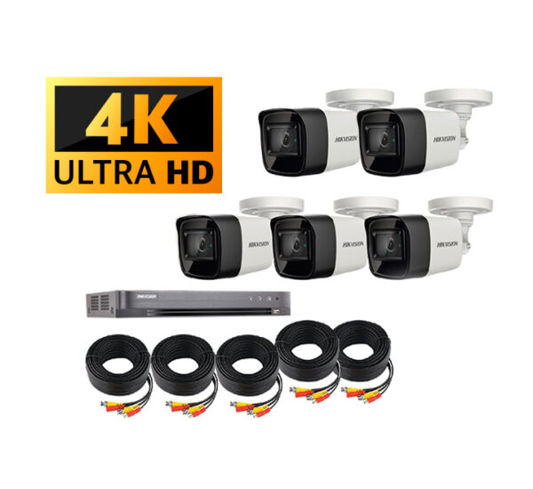 Kit de cámaras de seguridad 4k Hikvision